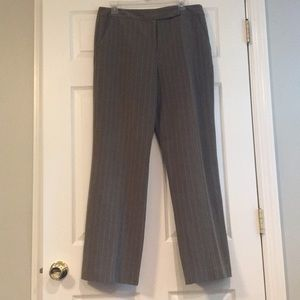 Larry Levine Stretch Pinstripe Pant - Size 12